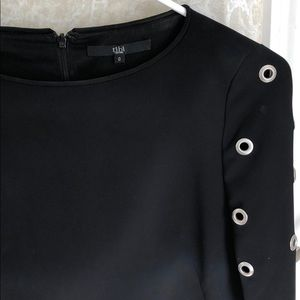 Tibi Dresses - Tibi long sleeved black dress with grommet detail